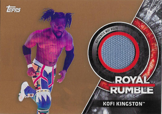 2018 Topps WWE Royal Rumble Mat Relics Bronze #MRRR-KK Kofi Kingston