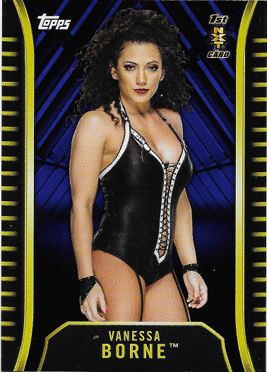 2018 Topps WWE NXT Roster Blue #R-47 Vanessa Borne 1ST NXT