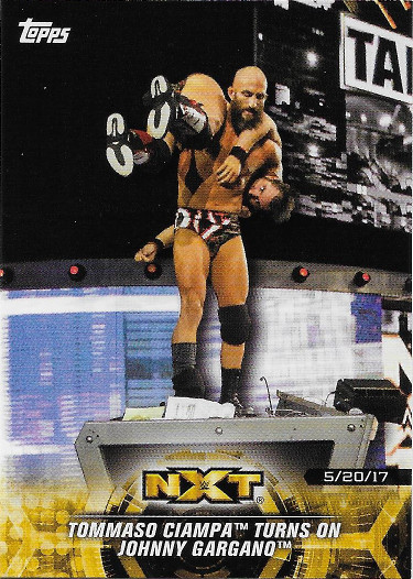 2018 Topps WWE NXT Matches & Moments #50 Tommaso Ciampa Turns on Johnny Gargano