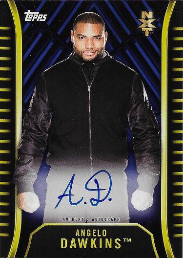 2018 Topps WWE NXT Autograph Blue #A-AD Angelo Dawkins
