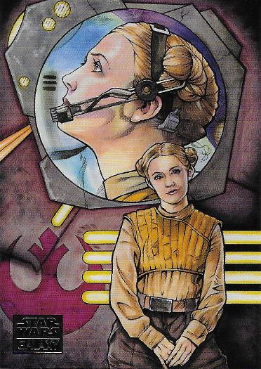 2018 Topps Star Wars Galaxy #11 Hero of the Resistance - Brad Hudson