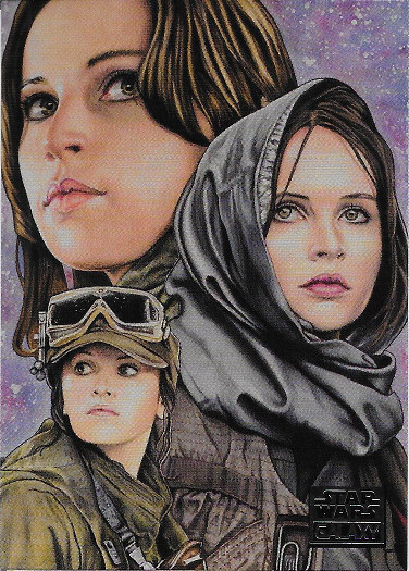 2018 Topps Star Wars Galaxy #25 Jyn Erso's Purpose - Louise Draper