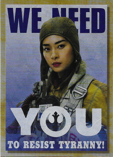 2018 Topps Star Wars Galaxy New Trilogy Propaganda #TP-3 We Need You