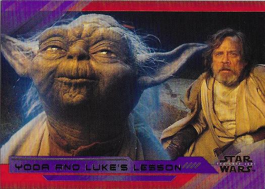 2018 Topps Star Wars The Last Jedi Purple #59 Yoda and Luke's Lesson