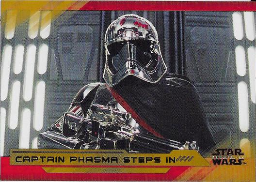 2018 Topps Star Wars The Last Jedi Gold #68 Captain Phasma Steps in