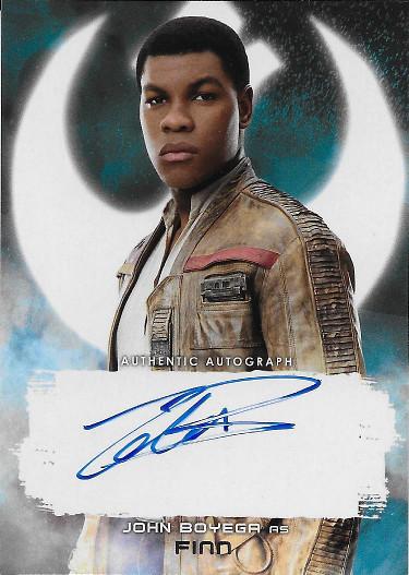 2018 Topps Star Wars The Last Jedi Autograph # John Boyega as Finn