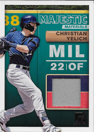 2019 Donruss Majestic Materials #MM-CY Christian Yelich