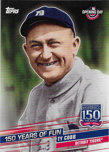 2019 Topps Opening Day 150 Years of Fun #YOF-1 Ty Cobb