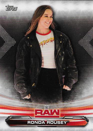 2019 Topps WWE Raw #61 Ronda Rousey