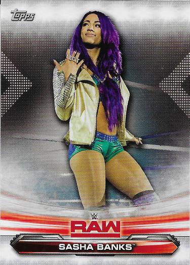2019 Topps WWE Raw #66 Sasha Banks