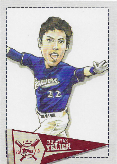 2019 Topps Big League Star Caricature Reproductions #SCR-CY Christian Yelich
