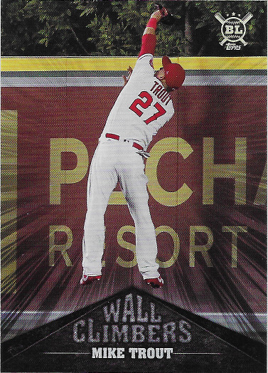 2019 Topps Big League Wall Climbers #WC-10 Mike Trout