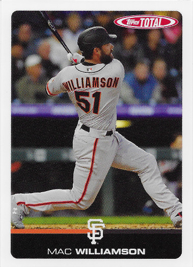 2019 Topps Total #143 Mac Williamson