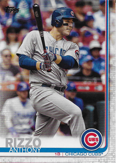 2019 Topps #596 Anthony Rizzo