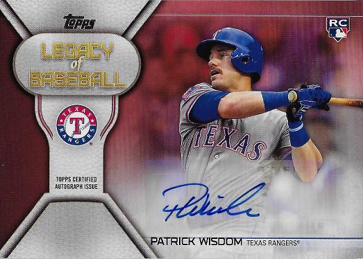 2019 Topps Legacy of Baseball Autographs Red #LBA-PW Patrick Wisdom RC