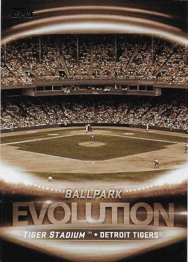 2019 Topps Evolution of Ballparks #ES-4 Comerica Park / Tiger Stadium