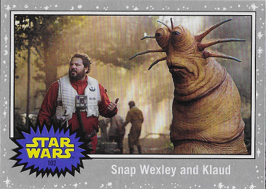 2019 Topps Star Wars: Journey to The Rise of Skywalker Silver #102 Snap Wexley and Klaud