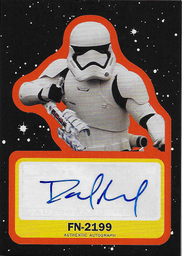 2019 Topps Star Wars: Journey to The Rise of Skywalker Autograph Orange # David Acord as voice of FN-2199