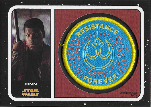 2019 Topps Star Wars: Journey to The Rise of Skywalker Commemorative Patches # Finn - Resistance Forever