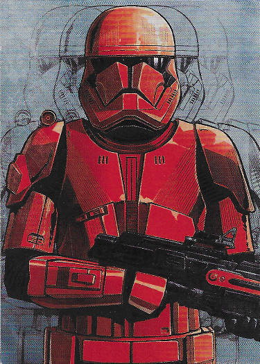 2019 Topps Star Wars: Journey to The Rise of Skywalker Illustrated Characters #IC-2 Sith Trooper