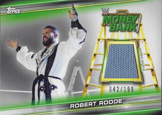2019 Topps WWE Money in the Bank Mat Relics #MR-BR Robert Roode