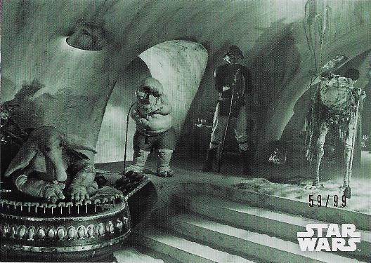 2020 Topps Star Wars Black & White Return of the Jedi Green Hue Shift #13 The Max Rebo Band plays