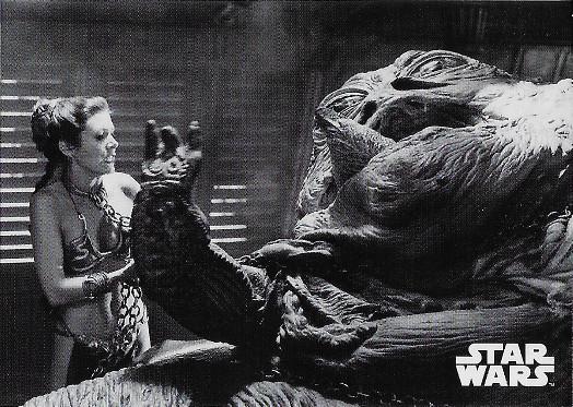 2020 Topps Star Wars Black & White Return of the Jedi #41 Jabba's Disgusting Demise
