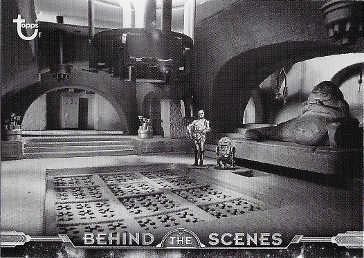2020 Topps Star Wars Black & White Return of the Jedi Behind the Scenes #BTS-21 Jabba's Palace (scale model)