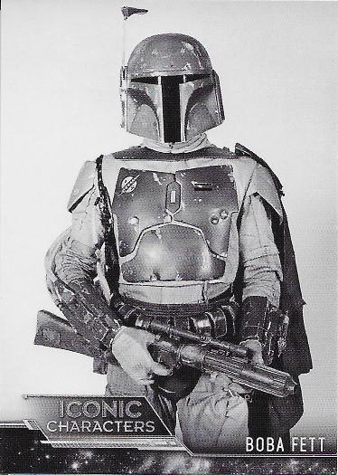 2020 Topps Star Wars Black & White Return of the Jedi Iconic Characters #IC-9 Boba Fett