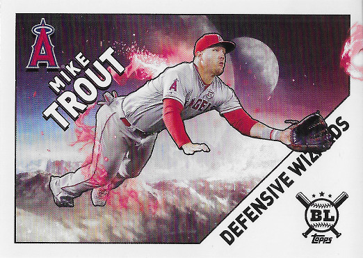 2020 Topps Big League Defensive Wizards #DW-14 Mike Trout