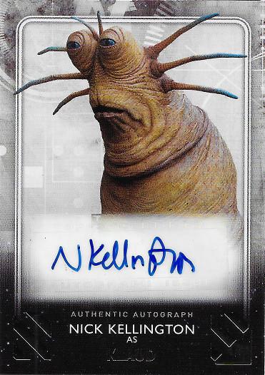 2020 Topps Star Wars The Rise of Skywalker Autograph #A-NK Nick Kellington as Klaud