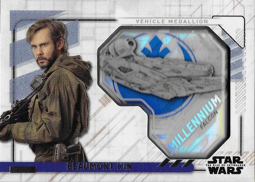 2020 Topps Star Wars The Rise of Skywalker Commemorative Vehicle Medallions #MVM-BKF Beaumont Kin - Millennium Falcon