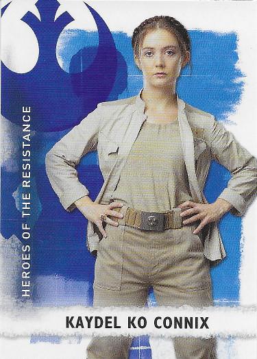 2020 Topps Star Wars The Rise of Skywalker Heroes of the Resistance #HR-4 Kaydel Ko Connix