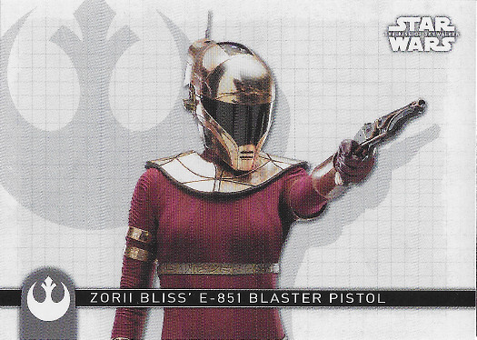 2020 Topps Star Wars The Rise of Skywalker Weapons #W-8 Zorii Bliss' Blaster