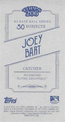 2020 Topps 206 # Joey Bart Back