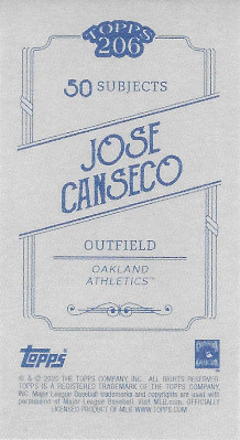 2020 Topps 206 # Jose Canseco
