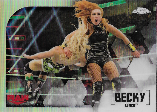 2020 Topps Chrome WWE Refractor #9 Becky Lynch