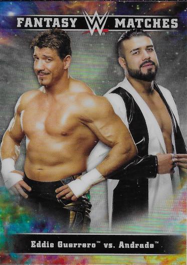 2020 Topps Chrome WWE Fantasy Matches #FM-22 Andrade / Eddie Guerrero