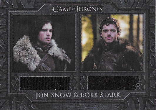 2020 Rittenhouse Game of Thrones Complete Series Relics #DC1 Jon Snow/Robb Stark Cloaks
