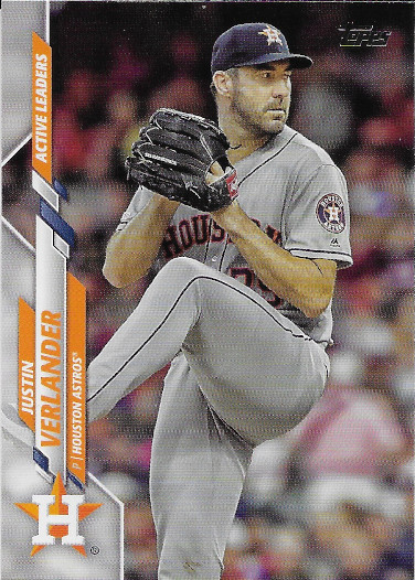 2020 Topps Update #U-34 Justin Verlander Active Leaders