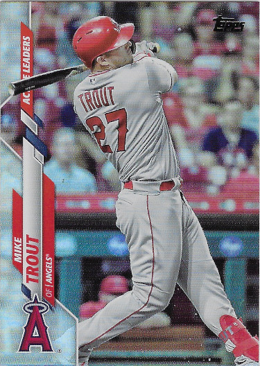 2020 Topps Update Rainbow Foil #U-292 Mike Trout Active Leaders