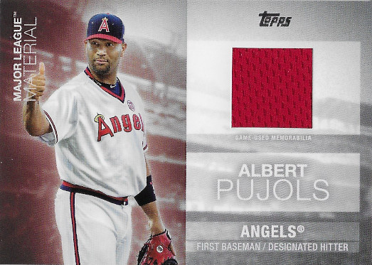 2020 Topps Major League Material Relics #MLM-AP Albert Pujols