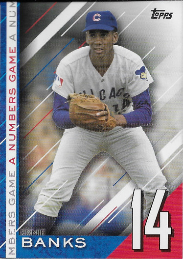 2020 Topps A Numbers Game #NG-19 Ernie Banks