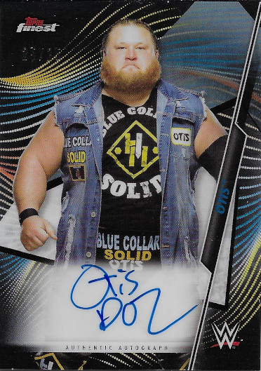 2020 Topps Finest WWE Autograph Black Refractor #A-OT Otis