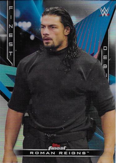 2020 Topps Finest WWE Decade's Finest Debuts #D-2 Roman Reigns Survivor Series 2012