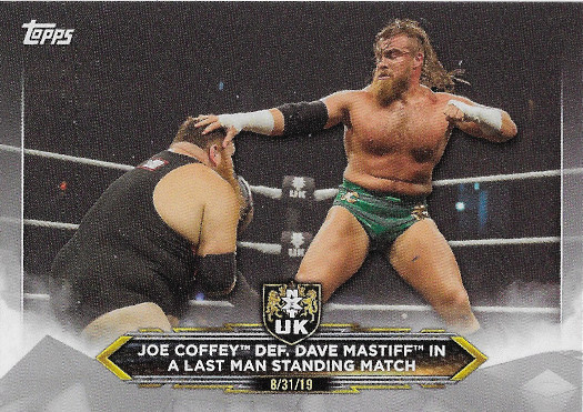 2020 Topps WWE NXT Silver #24 Joe Coffey def. Dave Mastiff in a Last Man Standing Match - NXT UK TakeOver Cardiff