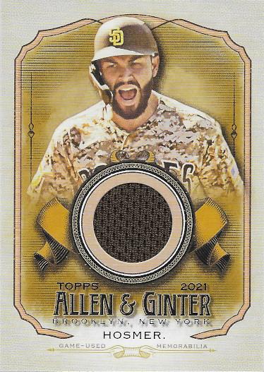 2021 Allen & Ginter Full Size Relic B #AGA-EHO Eric Hosmer