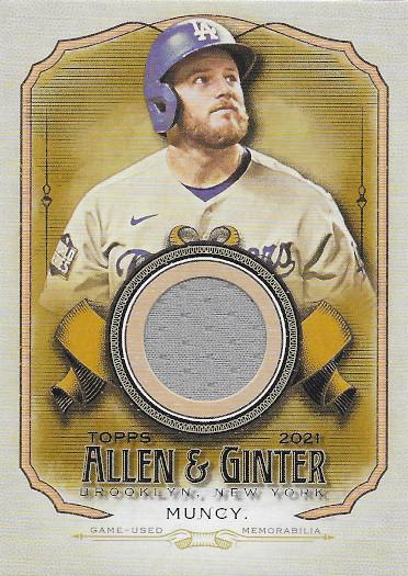2021 Allen & Ginter Full Size Relic B #AGA-MMU Max Muncy