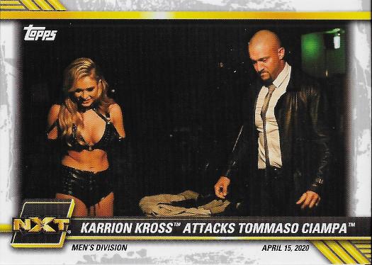 2021 Topps WWE NXT #11 Karrion Kross Attacks Tommaso Ciampa