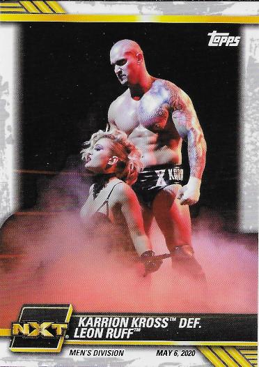 2021 Topps WWE NXT #21 Karrion Kross def. Leon Ruff